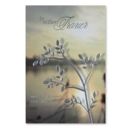 Trauerkarte Pflanze und Wasser