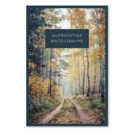 Trauerkarte Waldweg