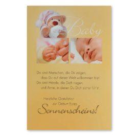 babykarte sonnenschein