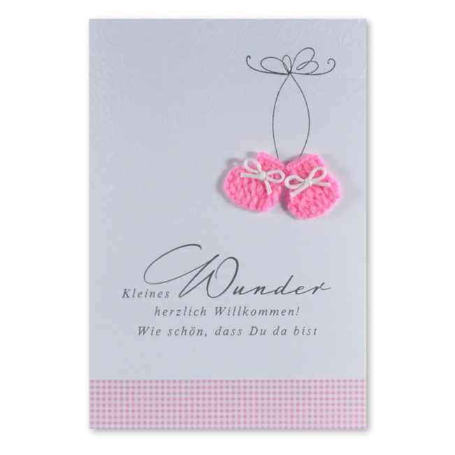 Babykarte Wunder Socken Mädchen