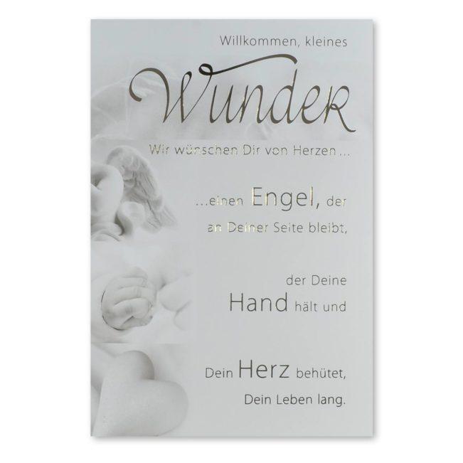 Babykarte Wunder Engel