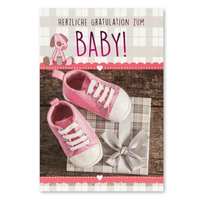 Babykarte Babyschuhe Mädchen