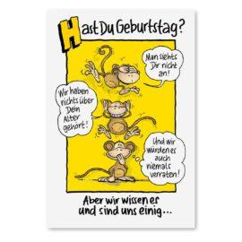 Geburtstagskarte Affen