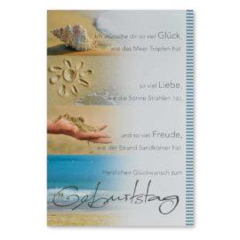 Geburtstagskarte Sand