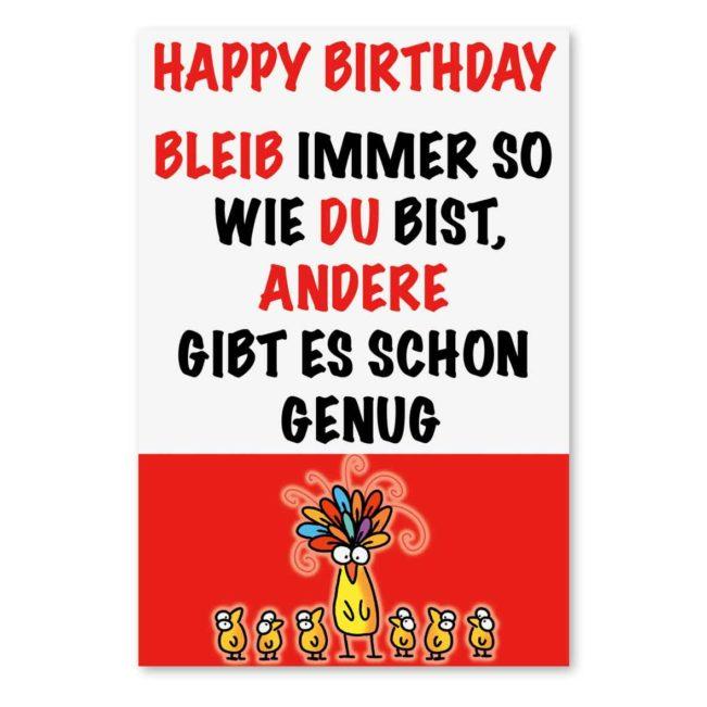 Geburtstagskarte Bleib wie Du bist