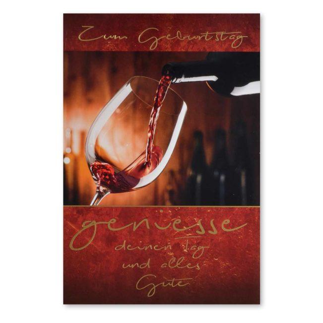 Geburtstagskarte Weinglas