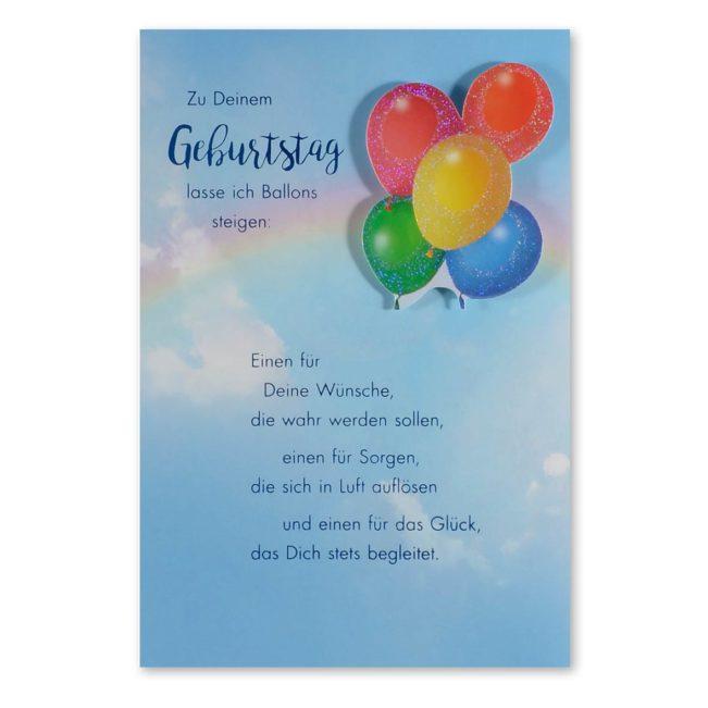 Geburtstagskarte Ballone