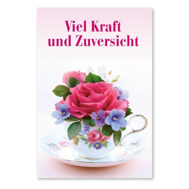 Kopf Hoch - Karte: Vase mit Rose