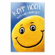Kopf Hoch - Karte: Smiley