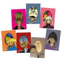 postkarten set alte hasen der kunst freshfish