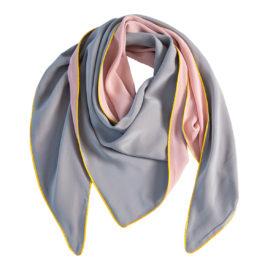 foulard moitie carre uni uni rosa hellgrau souze