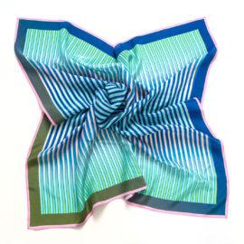 foulard carre midi merging stripes blue souze