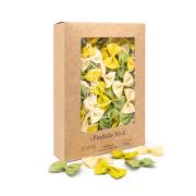 pasta farfalle verde giallo ingredienza