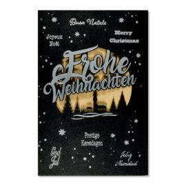karte frohe weihnachten mehrsprachig