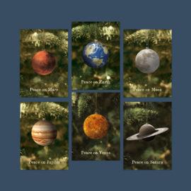 postkarten set peace on planets freshfish
