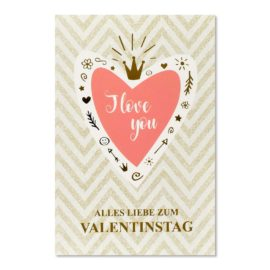 valentistag i love you abc karten
