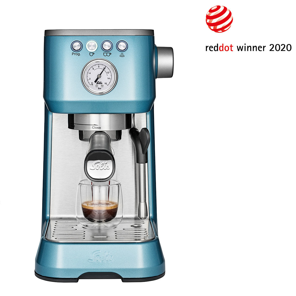 kaffeemaschine barista perfetta plus blau solis