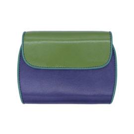 Geldbeutel Clam 193 aussen gruen violett