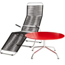 haefeli lounge gartentisch rot mood embru