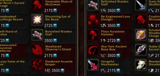 Patch 5.2 Heirlooms