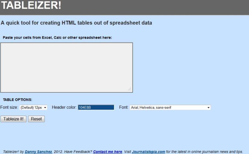 HTML Tables leicht gemacht (Excel2HTML)