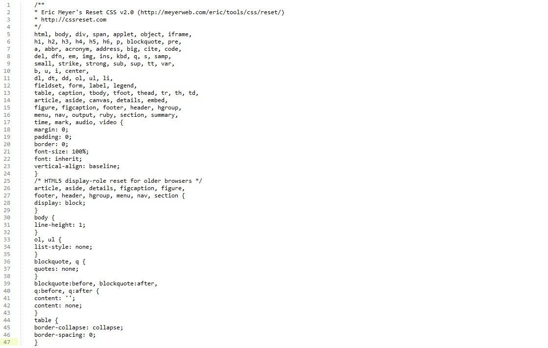 CSS Resets für alle Fälle