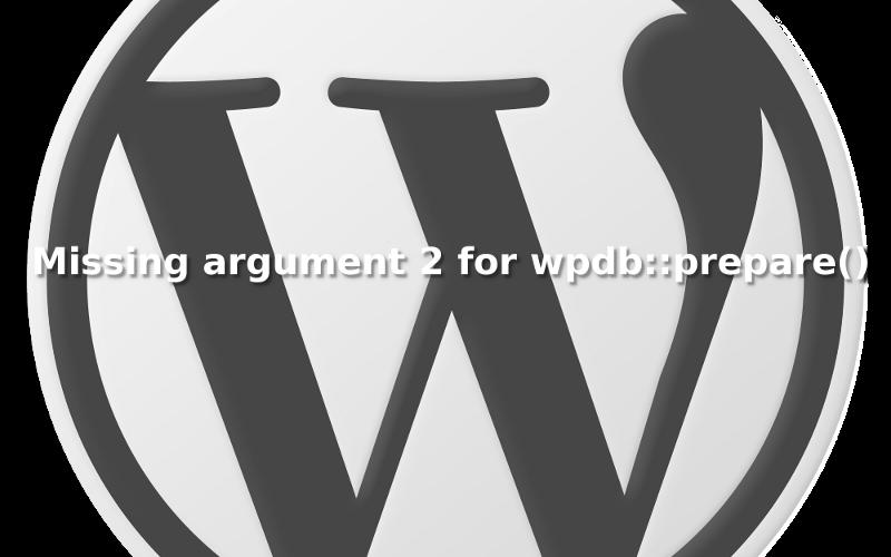 WordPress - PHP Warnung