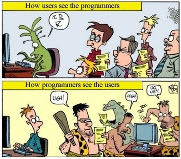 How users see programmers