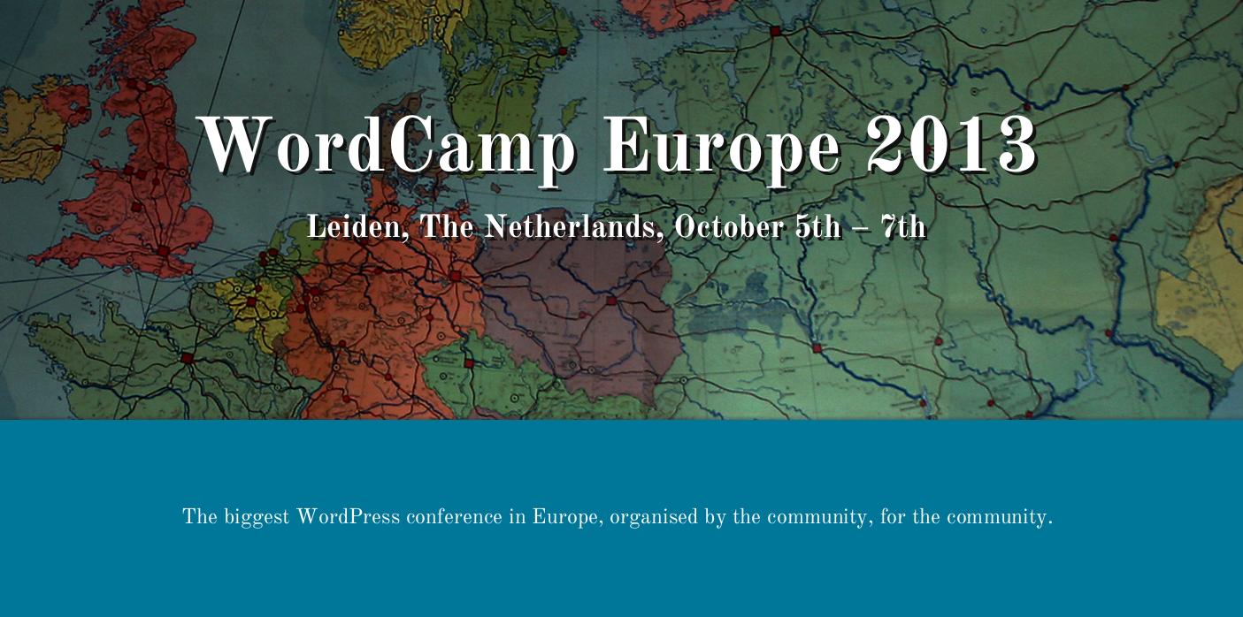 WordCamp Europe 2013 findet im Oktober statt