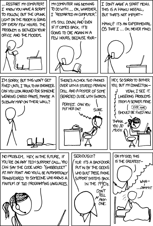 Tech Support - Quelle: http://xkcd.com/806/