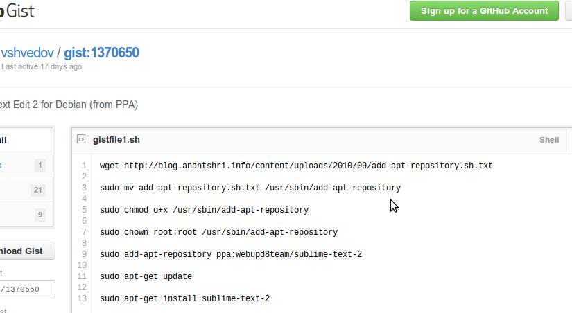 Crunchbang: Sublime Text 2 installieren (PPA)