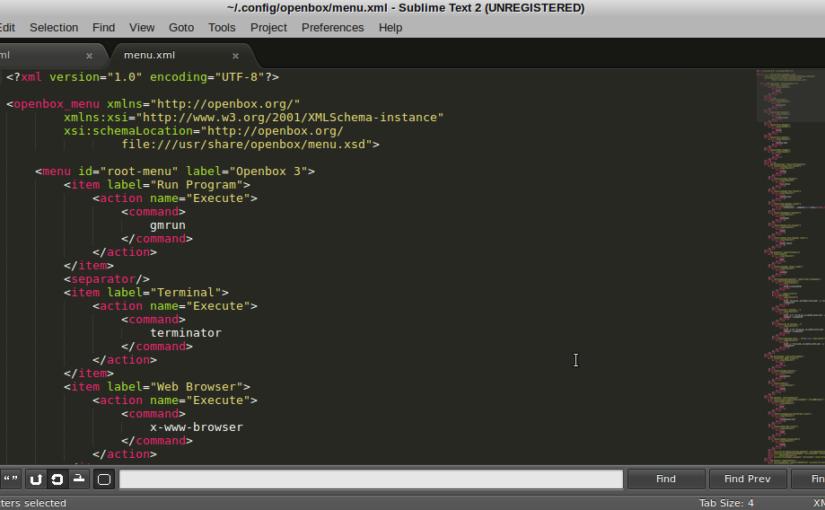 Crunchbang: Sublime Text 2 als Standard Text Editor