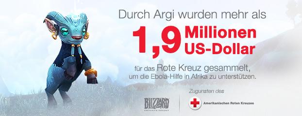 Durch Ingame Haustier Argi mehr als 1,9 Millionen US-Dollar als Unterstützung für die afrikanische Ebola-Hilfe