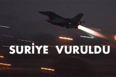 Son Dakika: Amerika Suriye'yi Vurdu