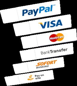 Wähle aus verschiedenen Zahlungsmöglichkeiten