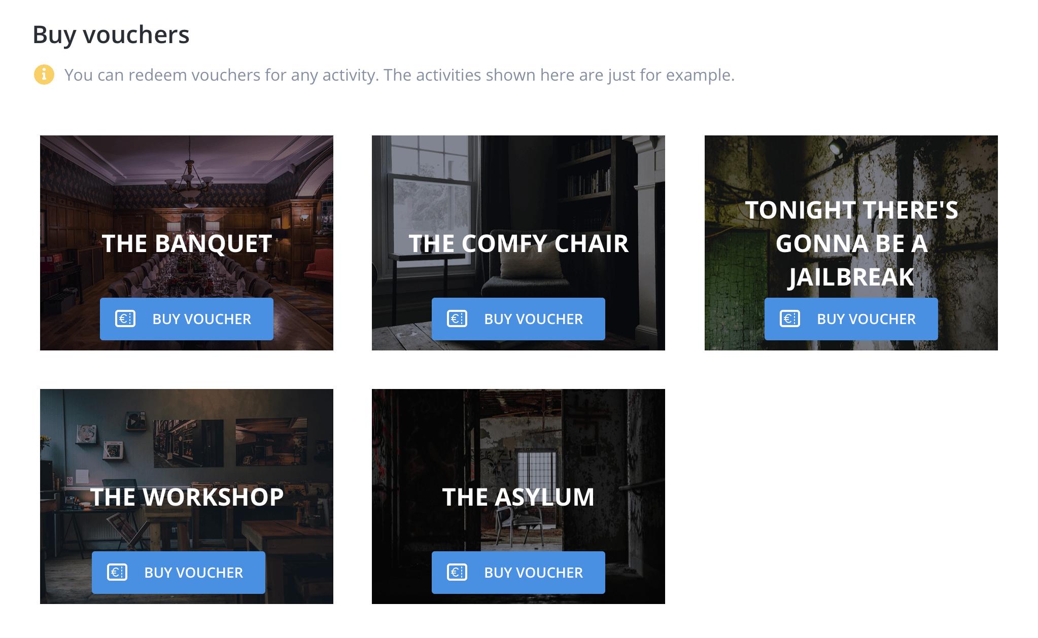 escape room vouchers