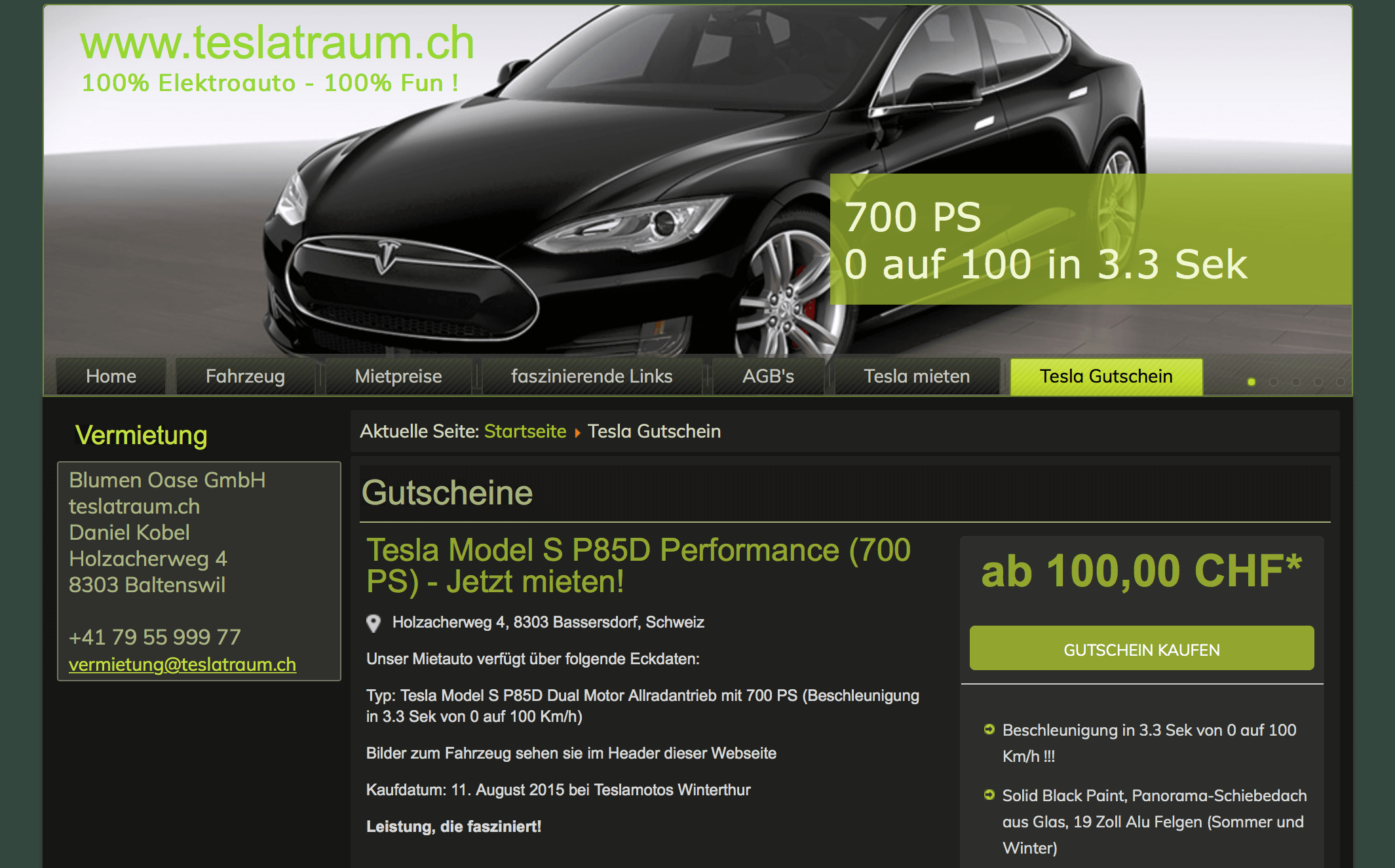 Zusatzverkäufe BestPractice teslatraum.ch