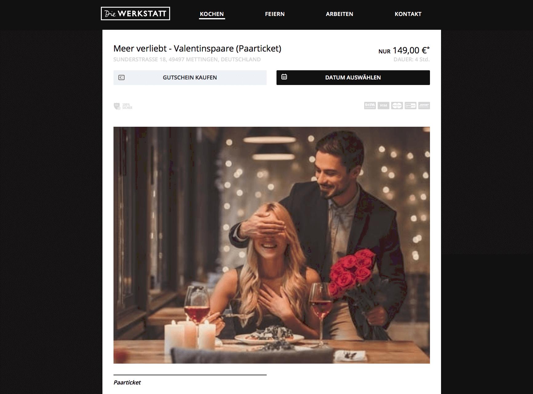 Valentinstag Beispiele