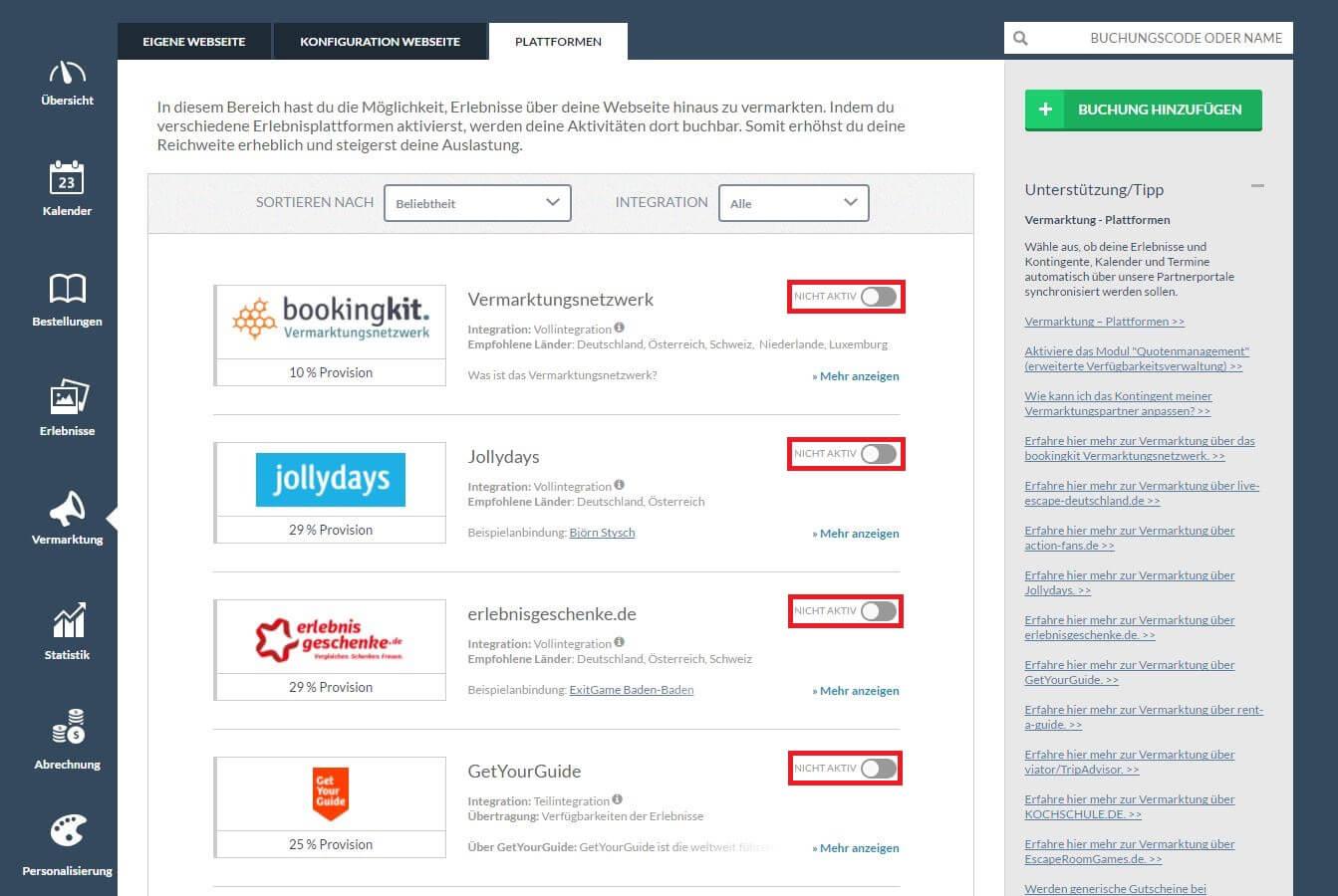 bookingkit-Überbuchungen verhindern-Buchungssystem-Kontingente-Vermarktungspartner