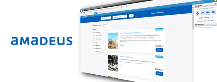 Amadeus Germany Adds 30,000 bookingkit Tours and Activities to Amadeus Selling Platform Connect