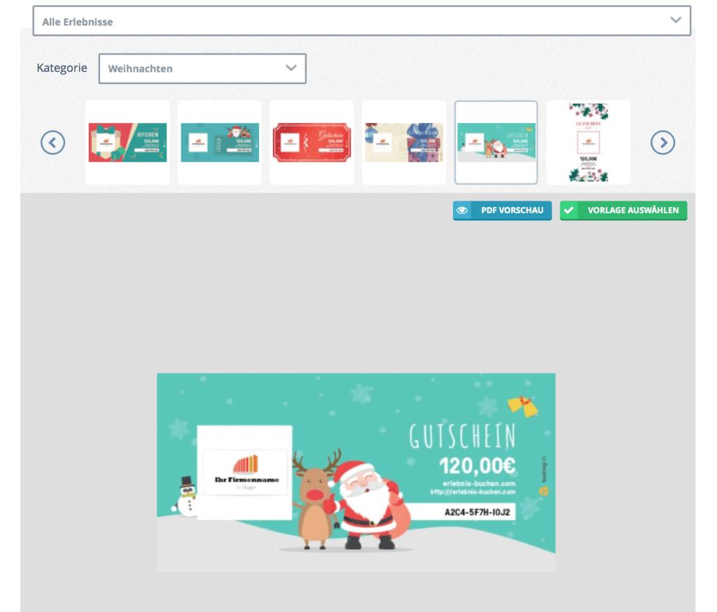 Gutscheine online verkaufen - mit passenden Vorlagen