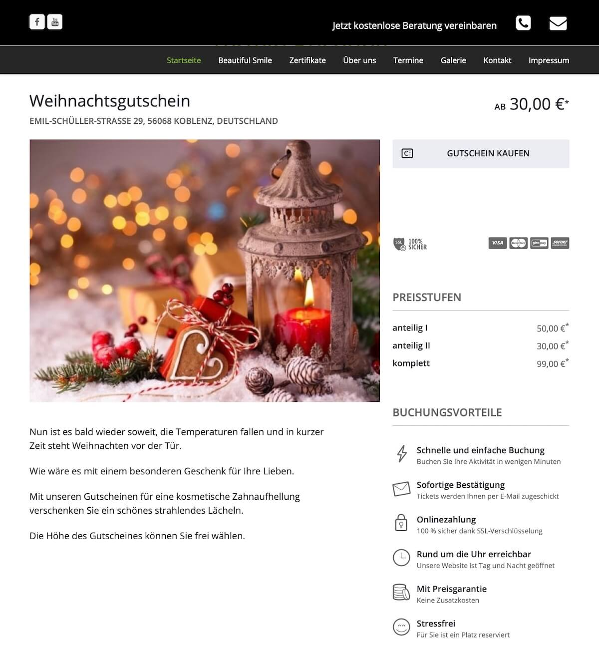 bookingkit-marketing-weihnachten-beispiel-beautiful-smile