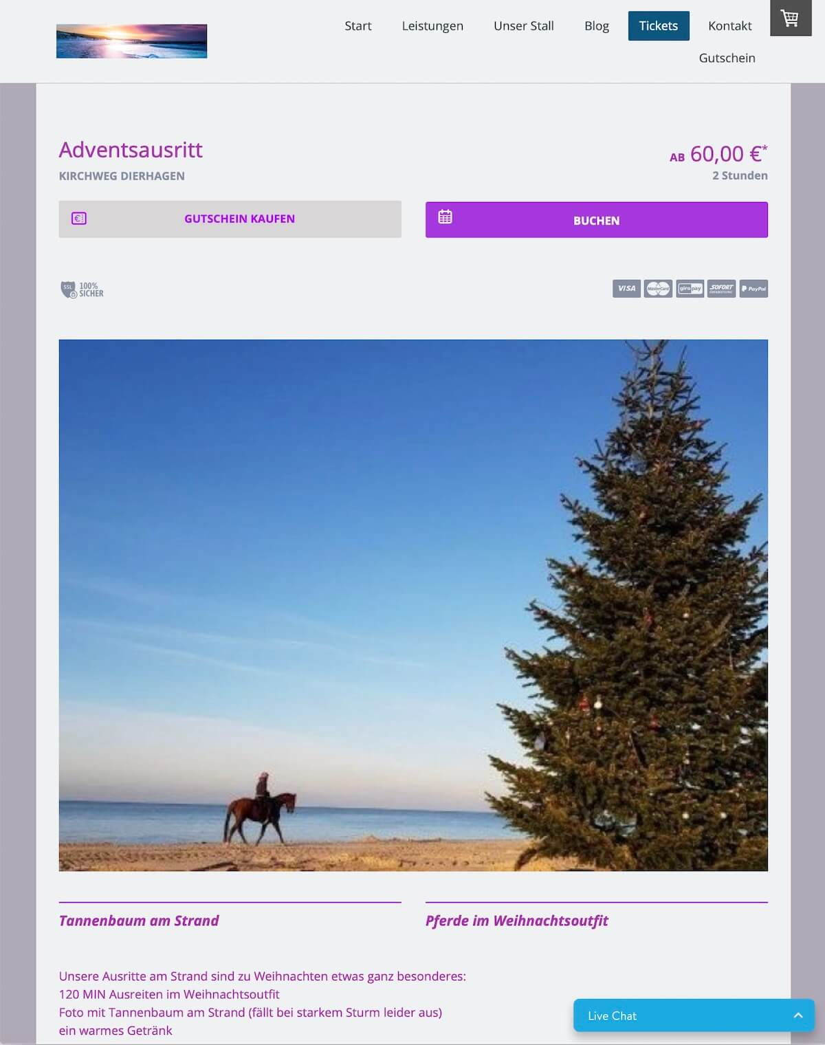 bookingkit-marketing-weihnachten-beispiel-reiten-am-meer