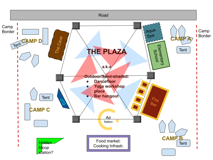 Elements village map