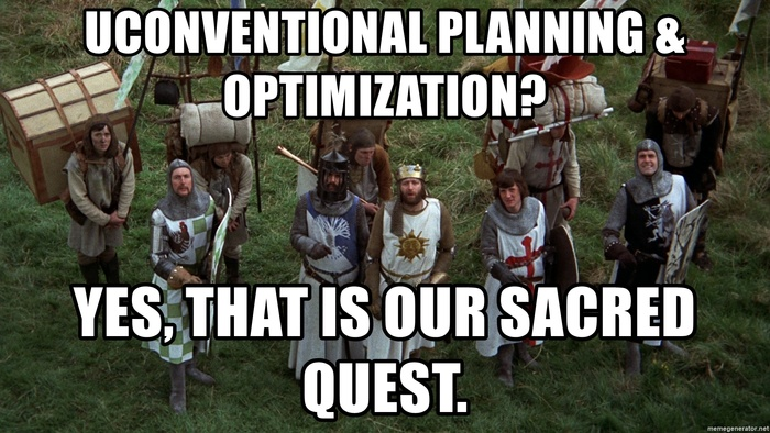 Uconventional planning optimization yes that is our sacred quest