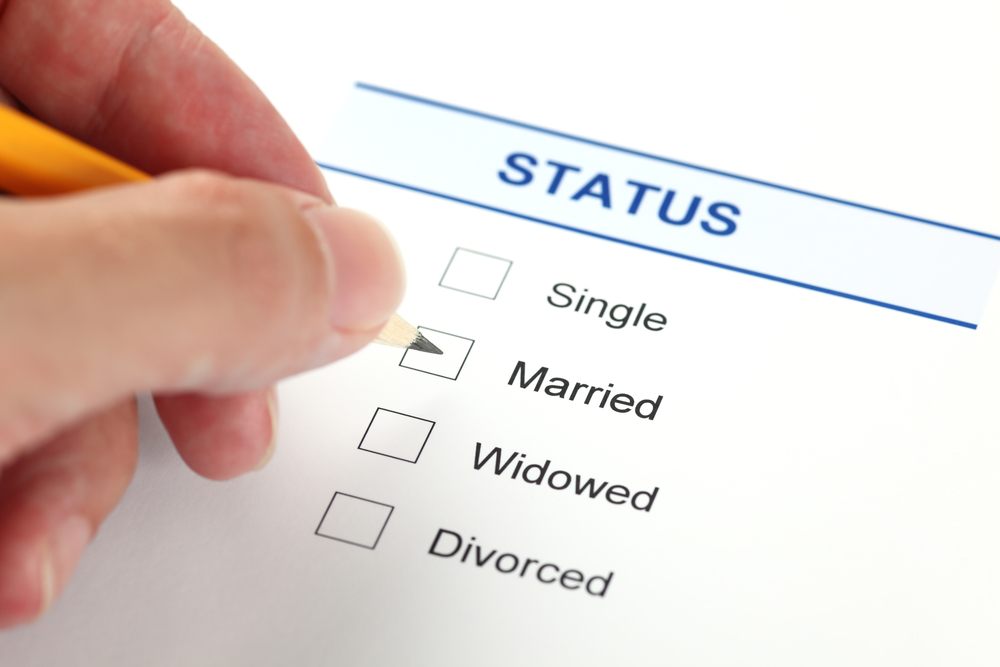 Image result for status single married divorced