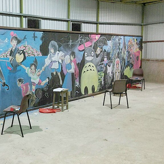 17661736 1288821544528996 1145914441557082112 n - סטודנטים מציירים יצירות אומנות מדהימות  על לוח גיר בכיתה, עד שמורה לצערינו הרב פשוט מוחקת את זה :0