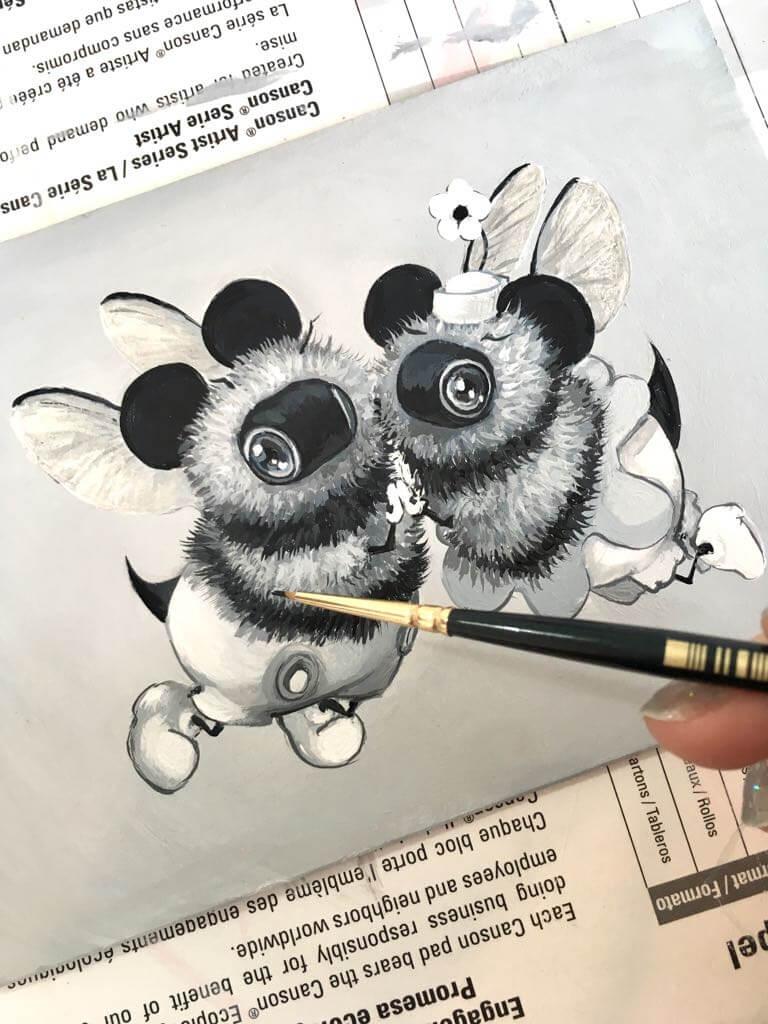 48218857 d899 41b5 a47a c84ee00a35dc by camilladerrico dcfrwmb - אומנית מציירת דבורים כל כך חמודים