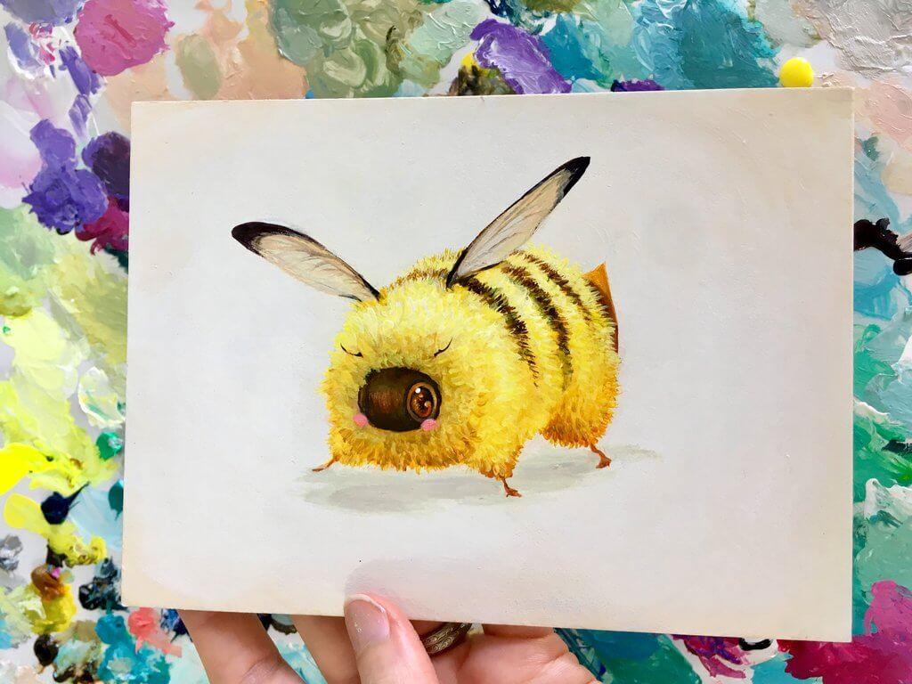 beekachu i choose you by camilladerrico dcf7qsw - אומנית מציירת דבורים כל כך חמודים