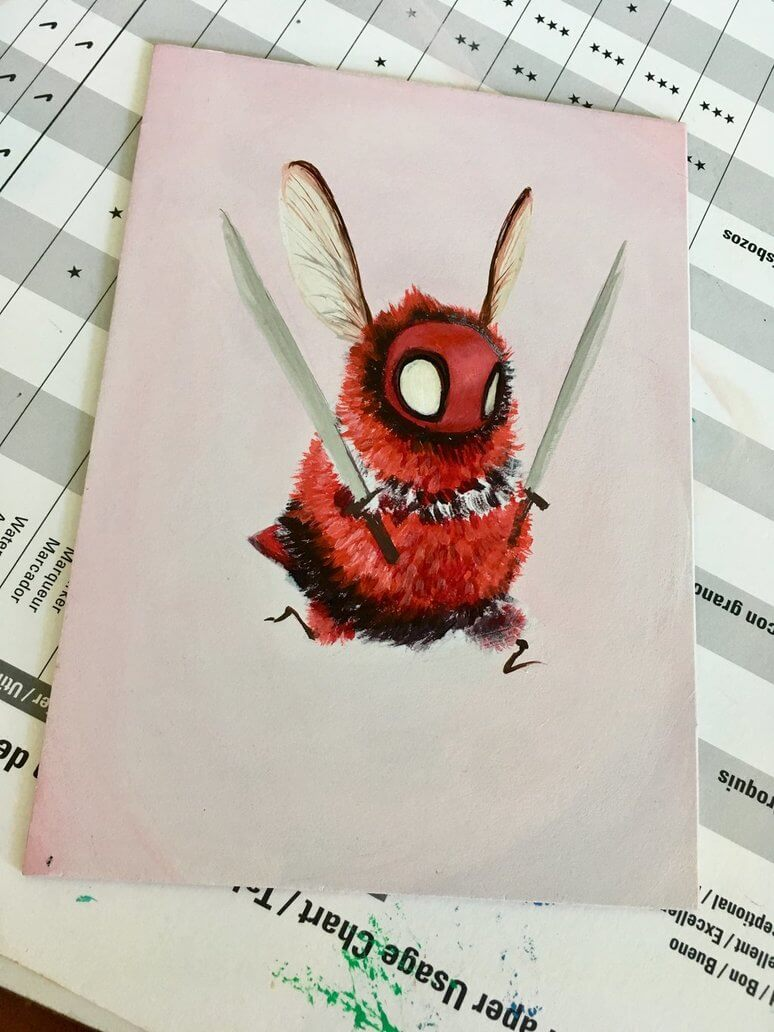 beepool by camilladerrico dcei3ga - אומנית מציירת דבורים כל כך חמודים